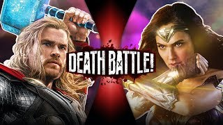 Thor VS Wonder Woman (Marvel VS DC Comics) | DEATH BATTLE