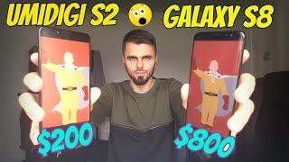 Umidigi S2 vs Samsung S8 Speed test/Gaming/Comparison of Screen/Helio P20 vs Exynos 9