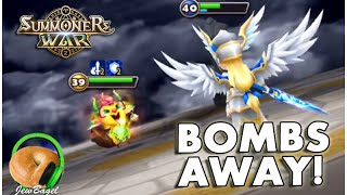 SUMMONERS WAR : Bombs Away!!! - Arena Bombing with Malaka & Taurus
