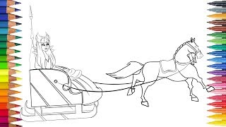 RATU SALJU dengan kuda itu Menggambar dan mewarnai