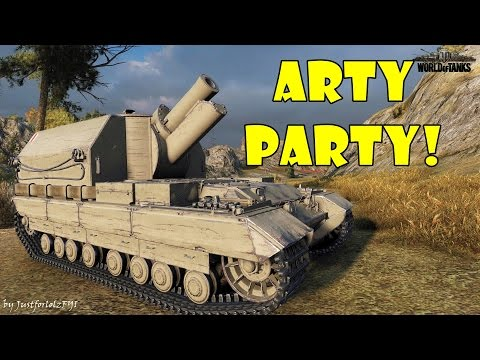 World of Tanks Funny Moments ARTY PARTY 19