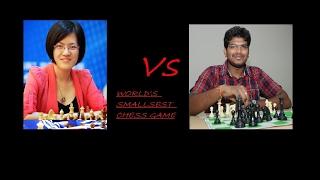 World's smallest game!! Hou Yifan  Vs Lalit Babu M R
