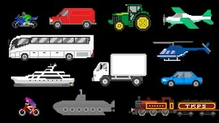Basic Vehicles - Street Vehicles, Aircraft & Water Vehicles - The Kids