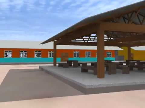 Architectural Rendering of Girls Secondary School Dormitory in Tanzania