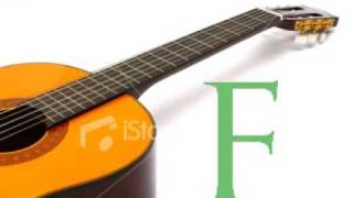 F note with Nylon String Guitar Tuner Online