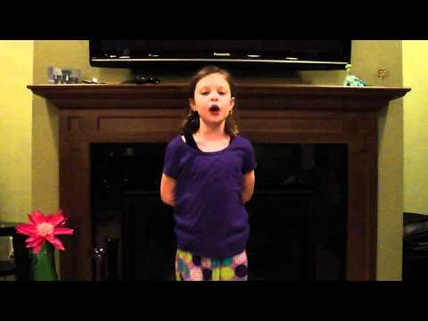 watch Girl sings the 50 states in alphabetical order!