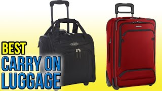 10 Best Carry On Luggage 2016