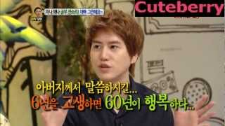 120723 KYUHYUN was severely scolded by his father (Talk Show Hello)