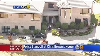 Police Swarm Chris Brown's Home After Woman Reports Assault