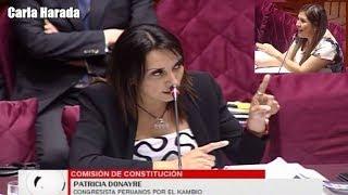 """Comisión de Constitución: Patricia Donayre a Yeni Vilcatoma: """"Zapatero a tus zapatos"""""""