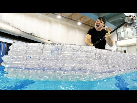 I Made An Entire Boat With Recycled Water Bottles