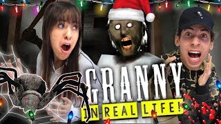 Granny Horror Game in Real Life Christmas Edition with Pet Spider Update!!