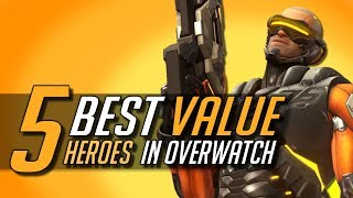 Top 5 BEST VALUE Heroes for Ranked in Overwatch | GM Guide for Beginners