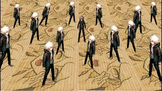 The prologue to Danganronpa 1, but all textures are Nagito Komaeda and the text has been obfuscated