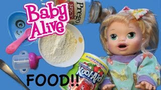 Baby Alive How To Make Baby Alive Food + Juice 💕