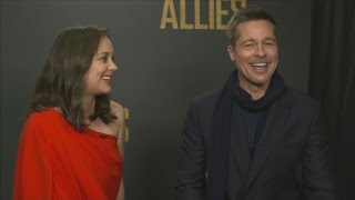 Brad Pitt and Marion Cotillard on