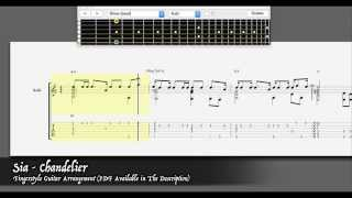 Sia - Chandelier [Easy Fingerstyle Guitar Arrangement - PDF available]