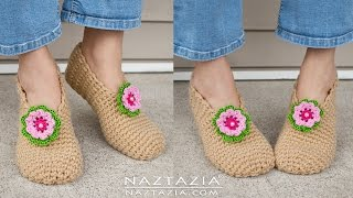 Download DIY Tutorial - Crochet Sweet Simple Slippers - Soft Shoes Booties Bedroom Slipper for Adults 3Gp Mp4