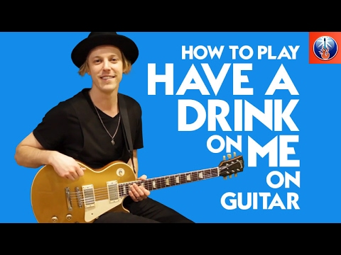 How to Play Have a Drink on Me on Guitar - AC DC Back in Black Lesson
