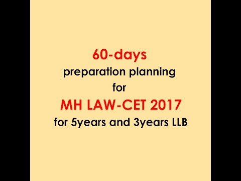 How to Crack MH LAW-CET In 60 days by MANOEUVRE