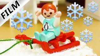 Playmobil Film deutsch | EMMA MACHT SCHNEE - Schlittenfahren in Luxusvilla | Serie Familie Vogel