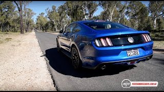 2017 Ford Mustang V8 0-100km/h & engine sound