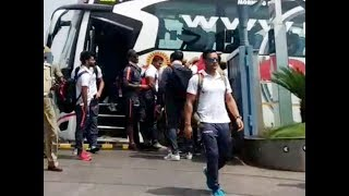Indian cricket team arrives in Vizag ahead of second ODI against West Indies