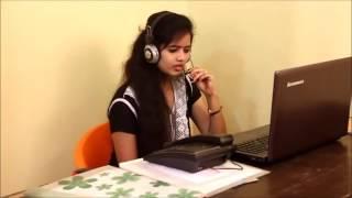 Funny call center girl
