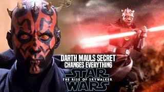 The Rise Of Skywalker Darth Maul Big Secret Changes Everything! (Star Wars Episode 9)