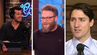 COMEDY IS DEAD! Seth Rogen Fawns Over Anti-Free Speech Trudeau | Louder With Crowder