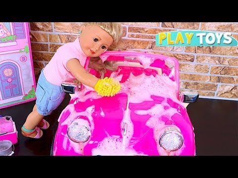 Xxx Mp4 Baby Doll Car Wash Toy Play OG Dolls Pink Car Toys Wash AG Dolls Make Up Hairstyle Shimmer Shine 3gp Sex