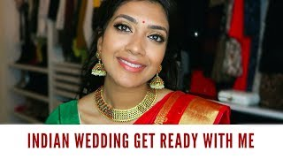 Indian Wedding Get Ready With Me   Vithya Hair and Makeup