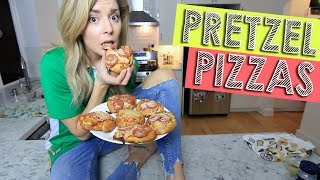 HOW TO: PRETZEL PIZZAS // Grace Helbig