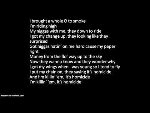 watch Homicide- Wiz Khalifa ft. Chevy Woods- With Lyrics!
