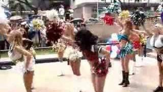 Pro Bowl Cheerleaders Get Wet Performing