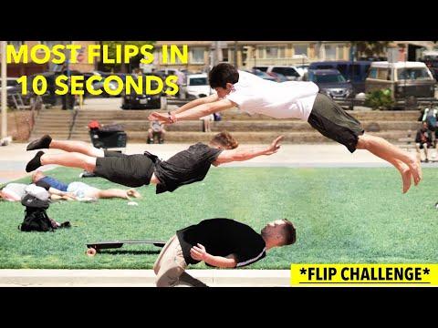 MOST FLIPS IN 10 SECONDS CHALLENGE