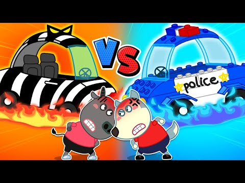 🔴 LIVE Wolfoo Plays with Toy Cars Lego Police Car vs Bad Car