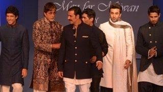 Amitabh Bachchan, Ranbir Kapoor & Akshay Kumar @ Mijwan Fashion Show 2014