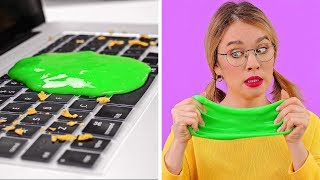 GENIUS LAZY CLEANING HACKS || Easy Cleaning Tips To Clean You Room Fast by 123 GO!