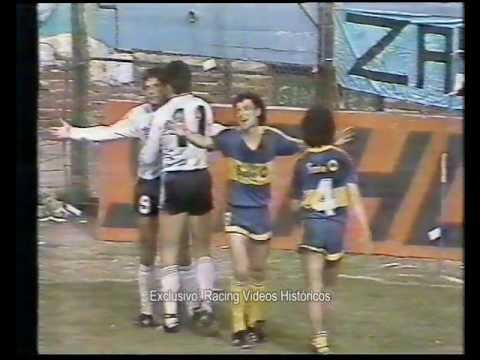 Racing Club 6 • Boca Jrs. 0 Resumen 1er tiempo Temporada 87 88