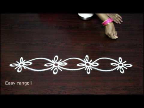 side designs for muggulu    kolam side designs    easy rangoli border designs