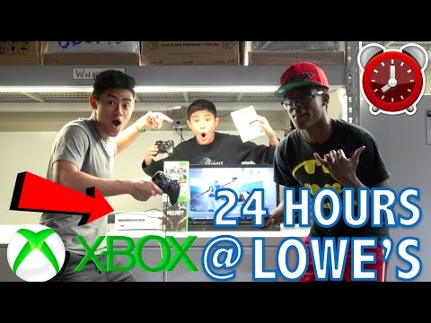 24 HOUR OVERNIGHT CHALLENGE IN LOWE S WITH AN XBOX