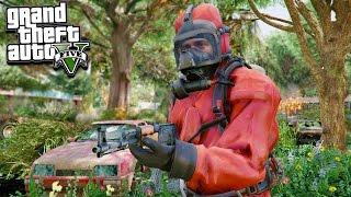 GTA 5 ZOMBIE MOD! 1,000 Raiders Vs Our Base! + Unlocking Hazmat Suit!!! (GTA 5 Mods)