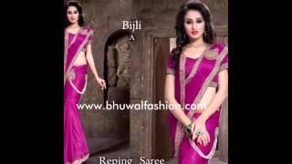 Bhuwal fashion Ready to wear Saree/ Readymade Saree / Pre-stitch saree