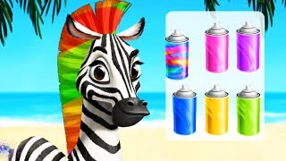 Jungle Animal Summer Fashion - Play Hair Salon, Makeup And Dress Up Funny Animals # Gameplay Video#