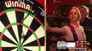 Darts Girls World Masters 2016 Final Greaves vs Koroleva