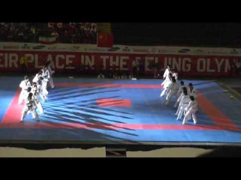 2008奧運資格� 韓國跆拳道表演