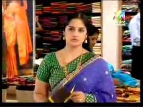 south serial Actress Meena Kumari Hot Navel in see Through Saree