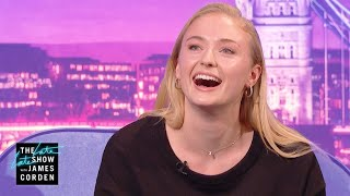 Sophie Turner Spits Pure Eminem Fire #LateLateLondon