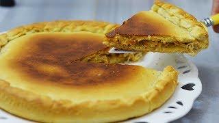 طرز تهیه پیتزای مرغ شکم پر تابه ای بدون نیاز به فر | NO OVEN STUFFED PIZZA